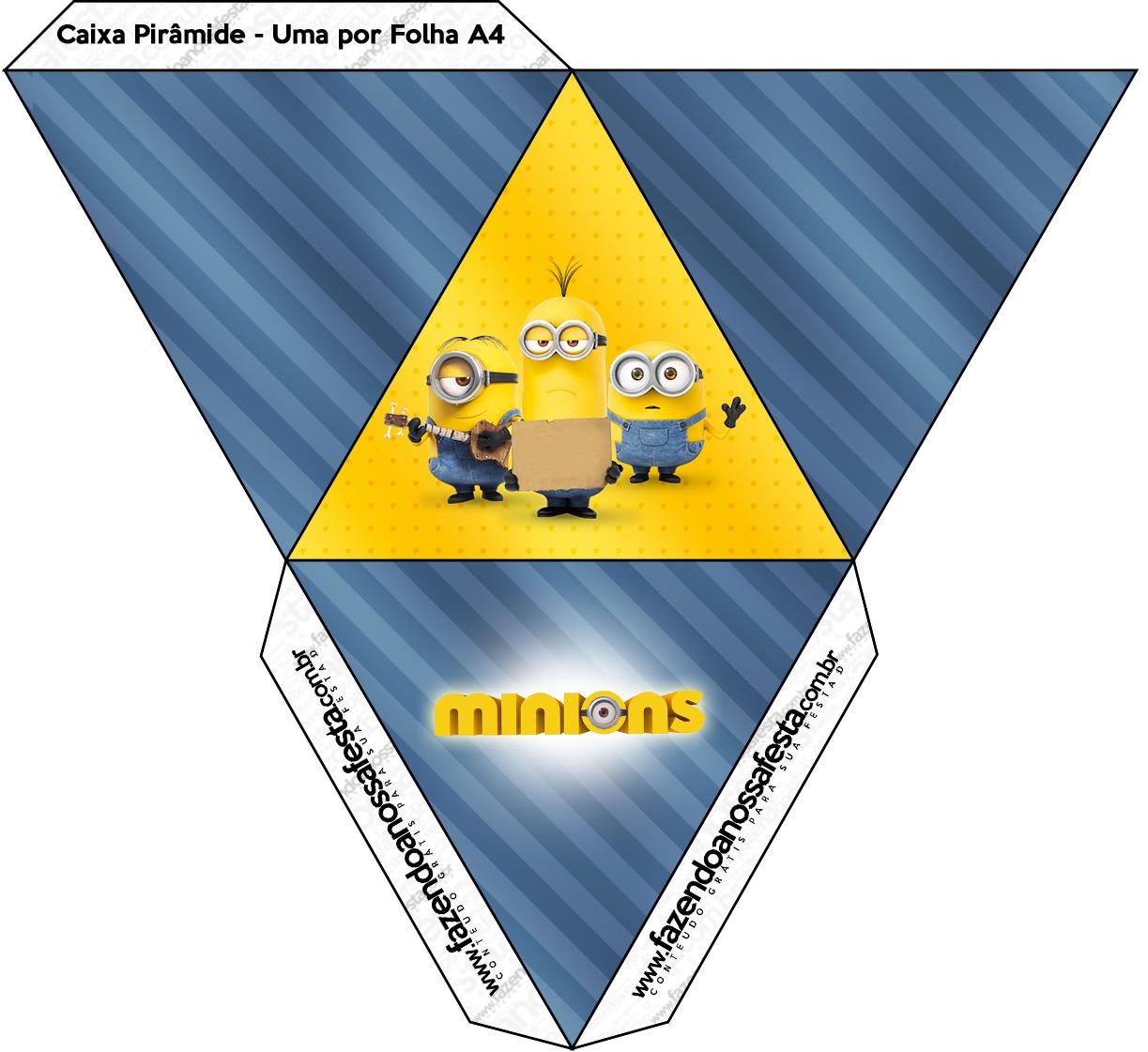 Caixa Pirâmide Os Minions
