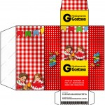 Caixa Remédio Kit Festa Junina Vermelho e Branco