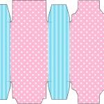 Caixa Sabonete Azul e Rosa
