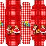 Caixa Sabonete Kit Festa Junina Vermelho e Branco