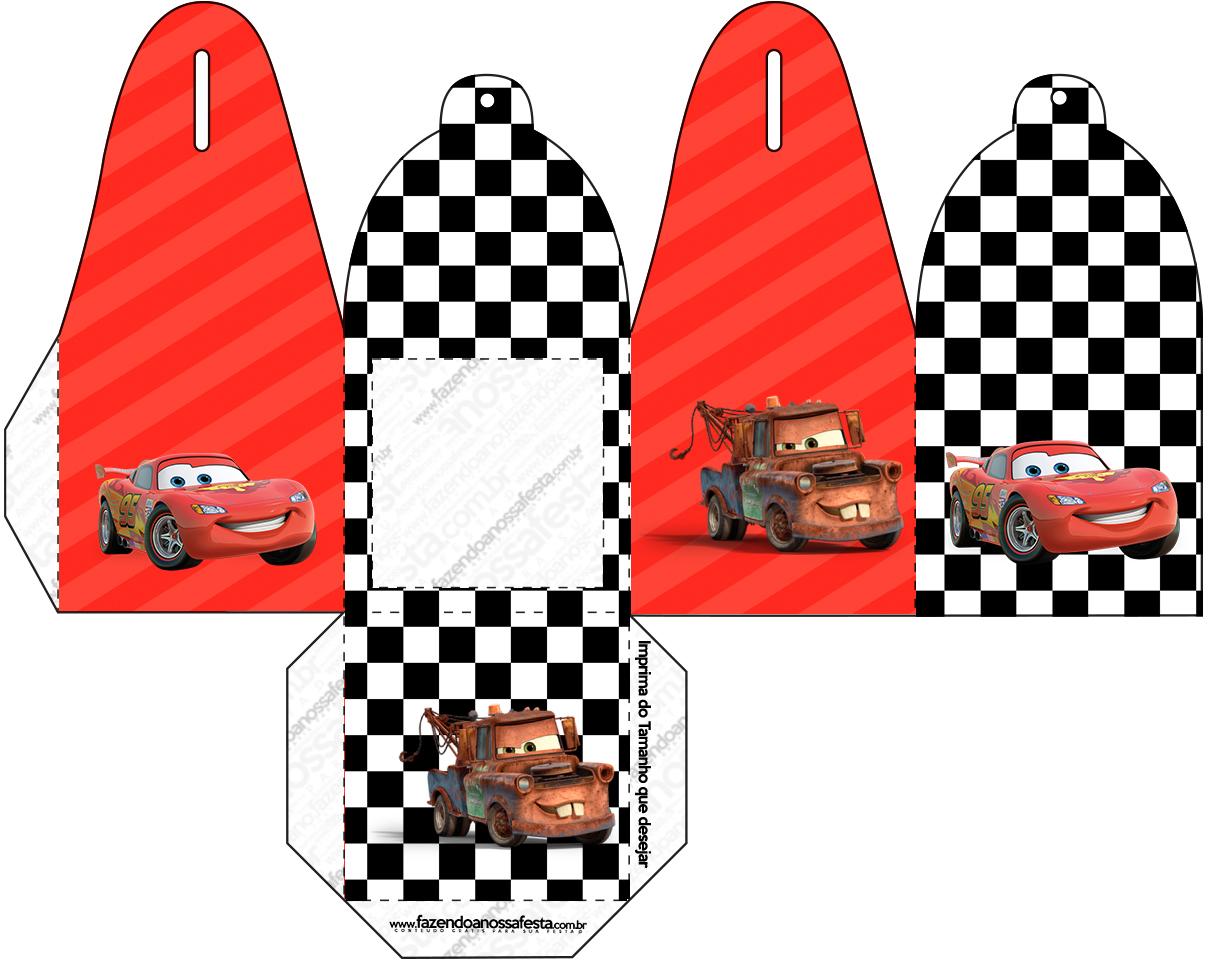 Caixa com Foto Carros Disney