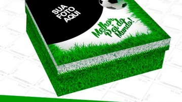 Caixa de Bombom Dia dos Pais Futebol Modelo