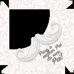 Caixa de Bombom Dia dos Pais Mustache Branco Melhor Pai do Mundo