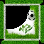 Caixa de Bombom Dia dos Pais Mustache Campo de Futebol