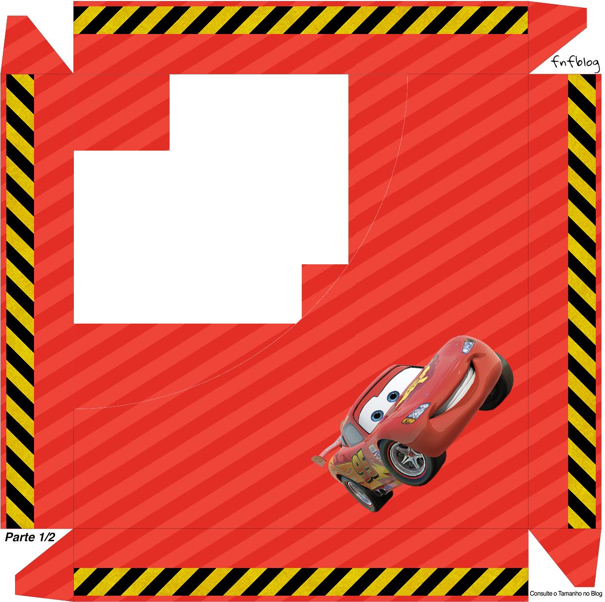 Caixa de Bombom Tampa Carros Disney