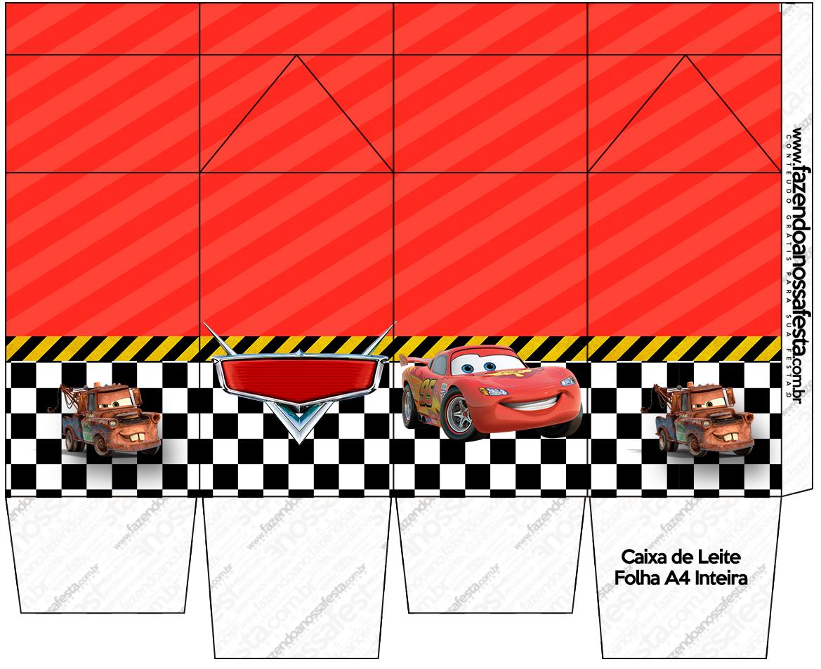 Caixa de Leite Carros Disney