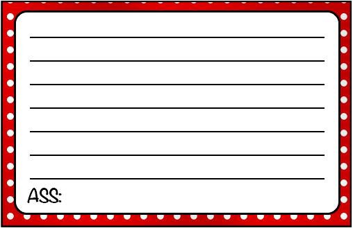 Cartão Agradecimento 2 Fundo Xadrez Vermelho e Poá