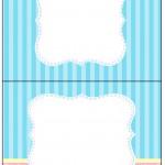 Cartão Agradecimento de Mesa Azul e Rosa