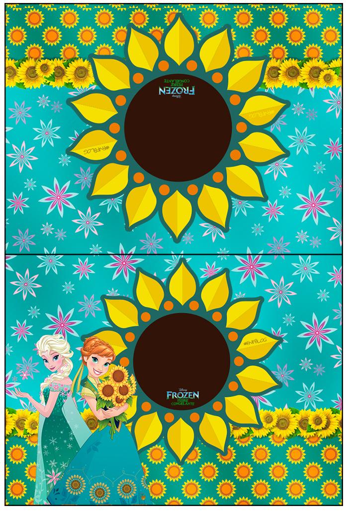 Cartão Agradecimento de Mesa Frozen Fever Cute