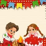 Cartão Kit Festa Junina Vermelho e Branco
