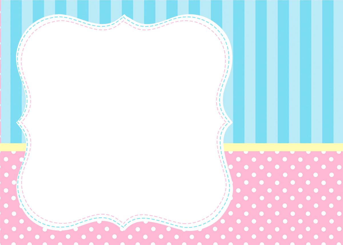 Cartão convite e moldura Azul e Rosa Fazendo a Nossa Festa #129AB9 1200x857 Banheiro Azul E Rosa