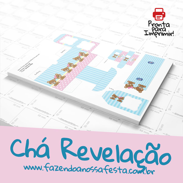 Chá Revelação Kit Festa Completo Grátis