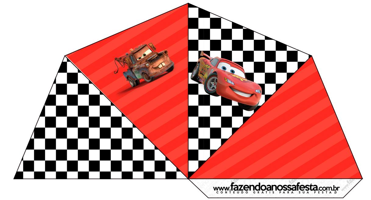 Cone Guloseimas 4 lados Carros Disney