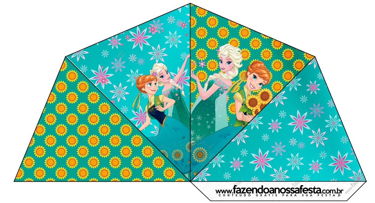 Cone Guloseimas 4 lados Frozen Fever Cute