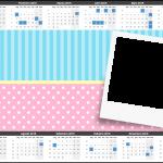 Convite Calendário 2015 2 Azul e Rosa