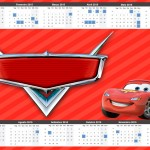 Convite Calendário 2015 2 Carros Disney