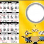 Convite Calendário 2015 2 Os Minions