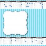 Convite Calendário 2015 3 Azul e Rosa
