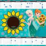 Convite Calendário 2015 Frozen Fever Cute 2