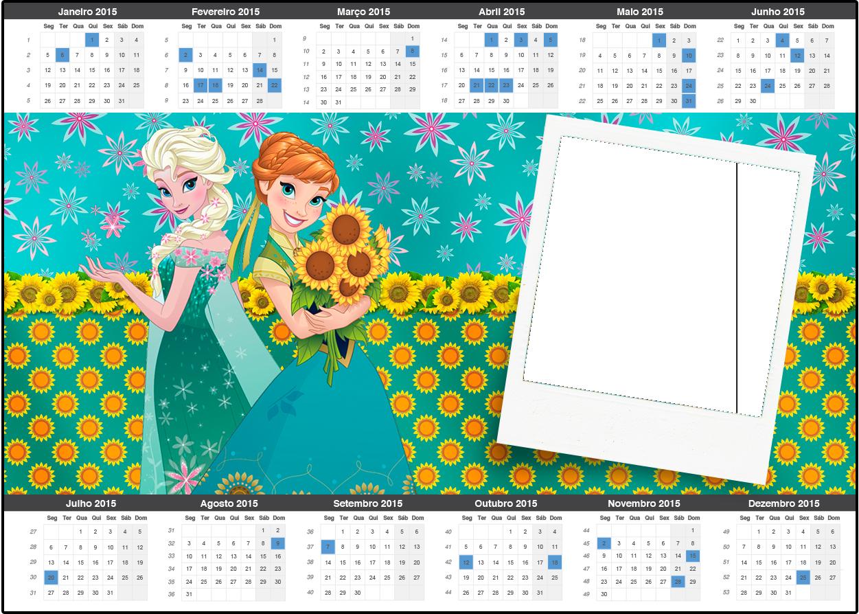 Convite Calendário 2015 Frozen Fever Cute