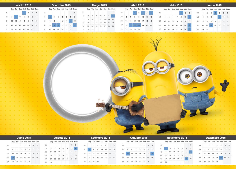 Convite Calendário 2015 Os Minions