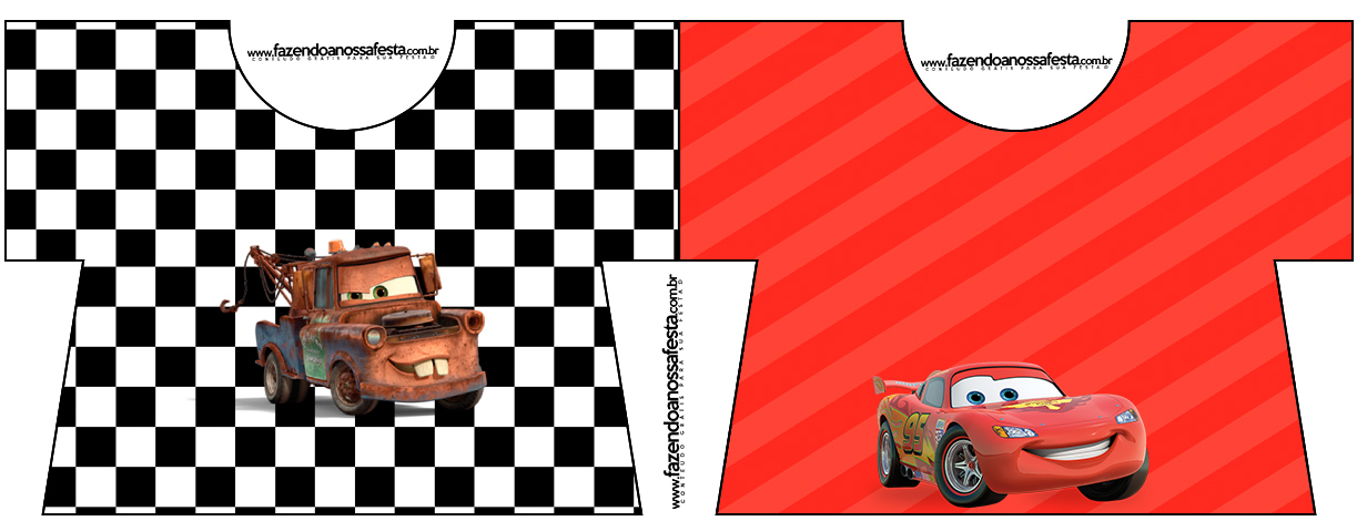 Convite Camisa Carros Disney