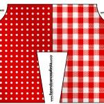 Convite Camisa Fundo Xadrez Vermelho e Poá