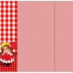 Convite, Cardápio em Z Kit Festa Junina Vermelho e Branco