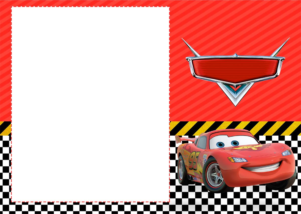 Convite Carros Disney 2 - Fazendo a Nossa Festa