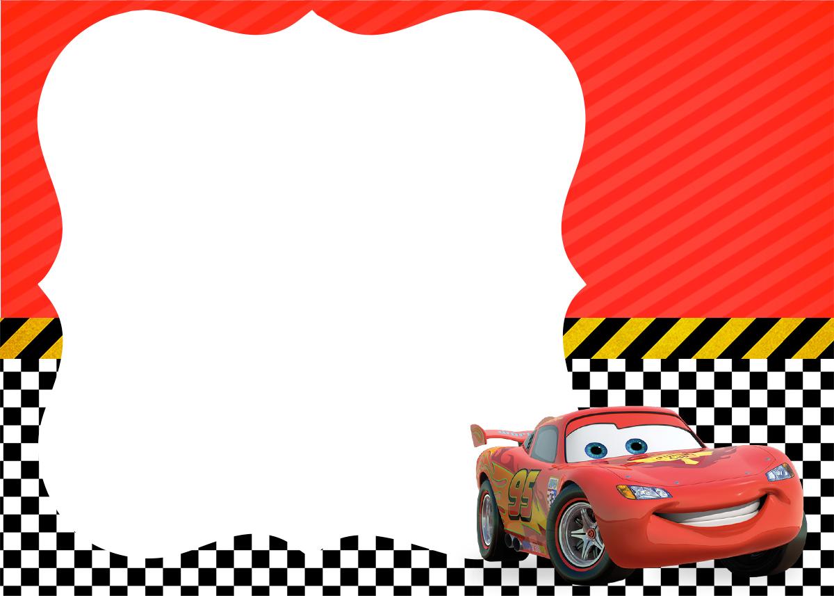 Convite Carros da Disney