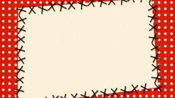 Convite Fundo Xadrez Vermelho e Poá 3