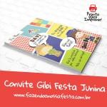 Convite Gibi Festa Junina Modelo