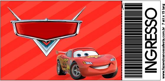 Placa Elipse Carros Disney - Fazendo a Nossa Festa