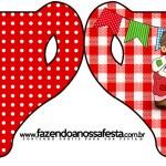 Convite Xícara Kit Festa Junina Vermelho e Branco