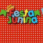Convite ou Cartão Kit Festa Junina Vermelho e Branco