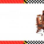 Convite ou Moldura Mate Carros Disney