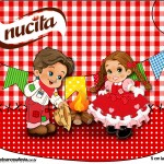 Creminho Nucita Kit Festa Junina Vermelho e Branco