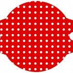 Enfeite Canudinho Fundo Xadrez Vermelho e Poá