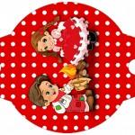 Enfeite Canudinho Kit Festa Junina Vermelho e Branco
