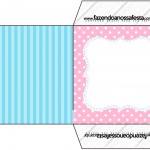 Envelope CD DVD Azul e Rosa