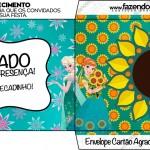 Envelope Cartão Agradecimento Frozen Fever Cute