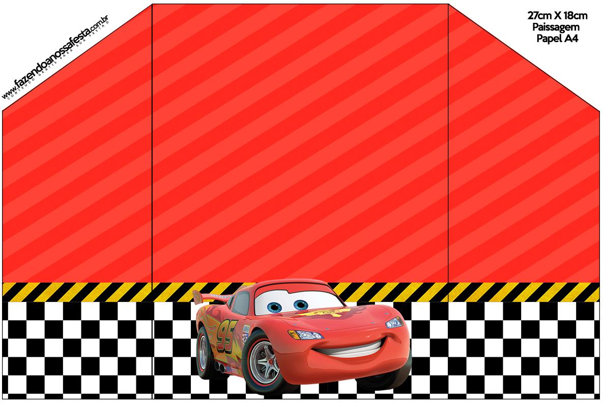 Envelope Convite Carros Disney