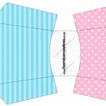 Envelope Fritas Azul e Rosa