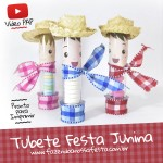 Tubete Festa Junina Infantil – Passo a Passo