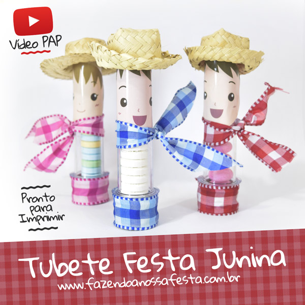 Festa Junina Infantil Tubetes