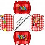 Forminhas Docinhos Flor Kit Festa Junina Vermelho e Branco