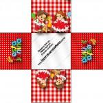 Forminhas Docinhos Kit Festa Junina Vermelho e Branco