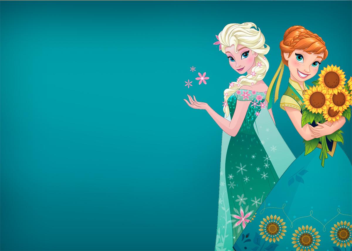 Convite Frozen Fever Cute Verde