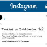 Instagram Moldura para Festa A4