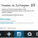 Instagram Moldura para Festa Parte 2 A4